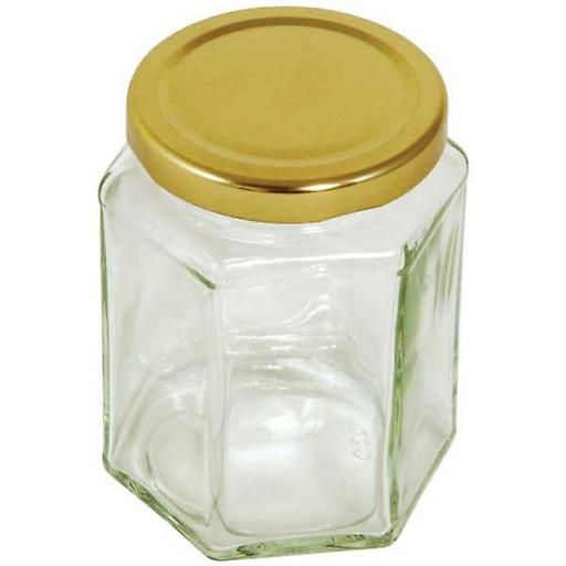 1 x 12oz Hex jar with lid.