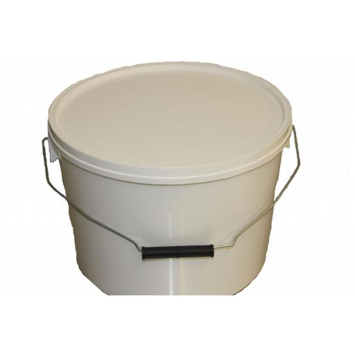 5x Buckets 30lb/10ltr honey bucket with lid and metal handles