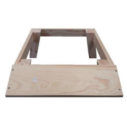 National Stand, splayed legs and alighting board